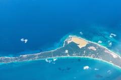 Top View of Paradise Beach, Bahamas Stock Photos