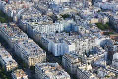 Top view of Paris from Eiffel tower Stock Image