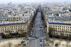 Top view of Paris Royalty Free Stock Photos