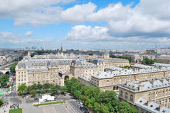 Top-view of Paris Royalty Free Stock Photos