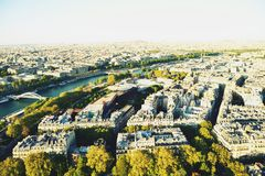 Top view of Paris Royalty Free Stock Image