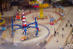Top view on park of attractions Royalty Free Stock Images