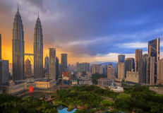 Top view of Park in Kuala Lumper city Royalty Free Stock Images