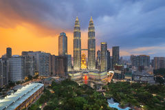 Top view of Park and Kuala Lumper city Stock Photos