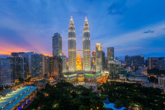 Top view of Park and Kuala Lumper city Royalty Free Stock Photo