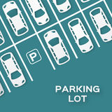 Top View Parking lot Stock Images