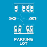 Top View Parking lot Royalty Free Stock Photography