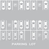 Top View Parking lot Stock Photography