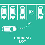 Top View Parking lot design Stock Photography