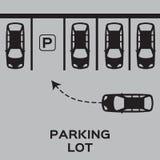 Top View Parking lot design. Stock Photo