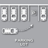 Top View Parking lot paper cut design. Royalty Free Stock Images