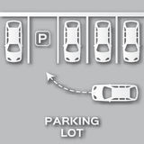 Top View Parking lot paper cut design. Royalty Free Stock Photography