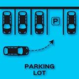 Top View Parking lot paper cut design. Stock Photography