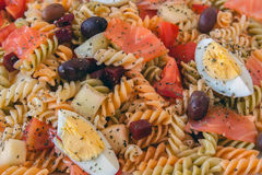 Top view of a pasta salad Stock Images