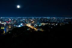 Top view of Pattaya in the night Royalty Free Stock Photography