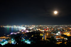 Top view of Pattaya in the night Stock Image