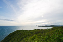 Top view of Peaceful island in Thailand Stock Photography