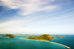 Top view of Peaceful island in Thailand Royalty Free Stock Images