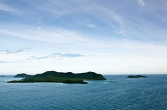 Top view of Peaceful island in Thailand Stock Image