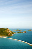 Top view of Peaceful island in Thailand Royalty Free Stock Image