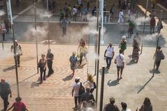 Top view of people at Expo 2015 in Milan, Italy Royalty Free Stock Photo