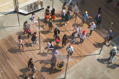 Top view of people at Expo 2015 in Milan, Italy Royalty Free Stock Image