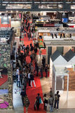 Top view of people at Made expo 2013 in Milan, Italy Royalty Free Stock Photography