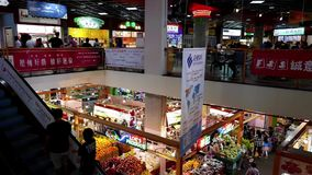 Top view of people selecting foods  stock video footage