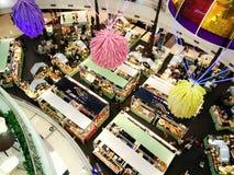 Top view people shopping food fair. Bangkok, Thailand - June 14,2019 : Top view people shopping food fair at the Mall stock images