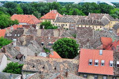 Top view of Petrovaradin houses Royalty Free Stock Photos