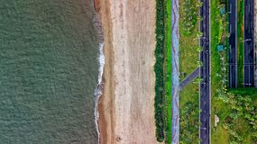 Top View Photo of Beach royalty free stock photo