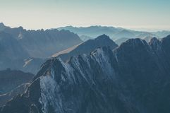 Top View Photo of a Mountain Stock Images