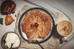 Top View Photo of Pie royalty free stock images