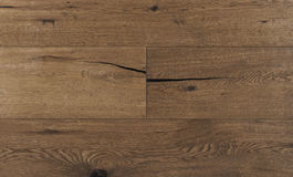 Top view photo of vintage rustic smoked Australian oak wood floor boards with rough texture, brushed and handscraped. Top view photo of horizontal vintage rustic stock images