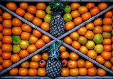 Top View Photography of Fruits Stock Photography