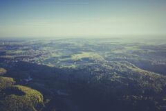 Top View Photography of Green Forest during Daytime Royalty Free Stock Photography