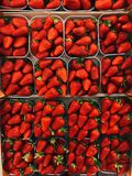 Top View Photography of Strawberries on Containers royalty free stock image