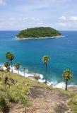 Top view of phuket island Stock Photo