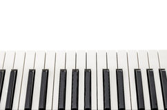 Top view of piano keyboard Stock Photo