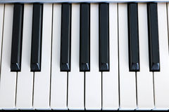 Top view of piano keys Royalty Free Stock Photography
