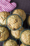 Top view of banana muffins Royalty Free Stock Images