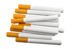 Top view of a pile of cigarettes Stock Photo