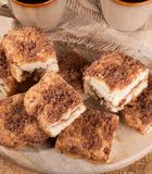 Cinnamon Swirl Crumb Cake Royalty Free Stock Photos