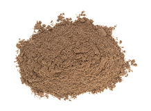Top view of a pile of cocoa. On a white background Stock Images