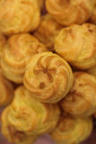 Top view of a pile of cream puff Royalty Free Stock Photo