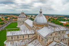 Top view of Pisa. Royalty Free Stock Photo