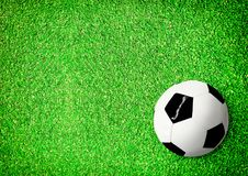 Top view of pitch and soccer ball royalty free stock images