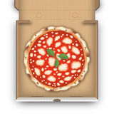 Top view pizza box  Stock Image