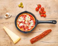 Top view of pizza. Stock Images