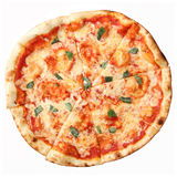 Top view of pizza Margherita Stock Photography